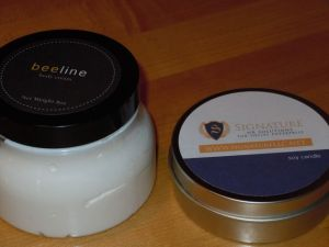 Beehive Lotion and Dreambean Soy Candle